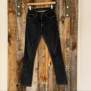 Nudie high waisted skinny jeans.